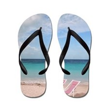 Mexico, Cancun Beach, Beach chair Flip Flops