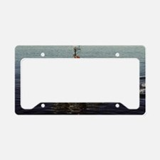 uss excel large framed print License Plate Holder