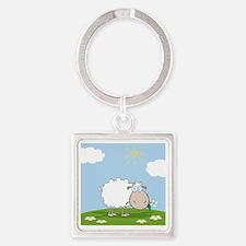 0026_Sheep30 Square Keychain