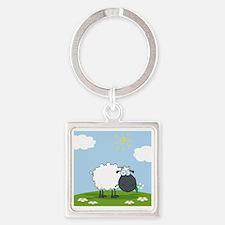0034_Sheep41 Square Keychain