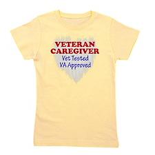 Vet Caregiver Heart Girl's Tee