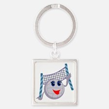 0002_Volleyball2.gif Square Keychain