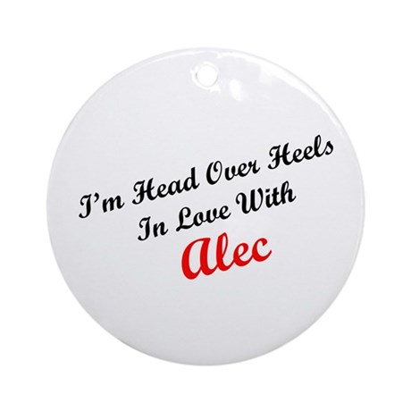 In Love with Alec Ornament (Round)