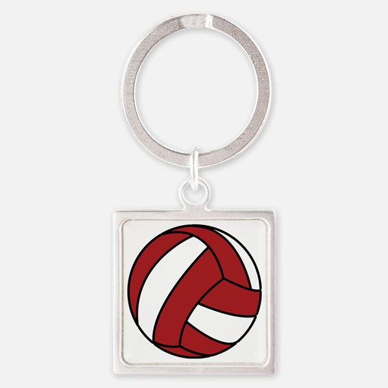 0005_Volleyball5 Square Keychain