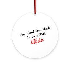 In Love with Aldo Ornament (Round)