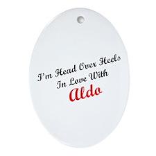 In Love with Aldo Oval Ornament