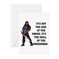 SWORD SIZE Greeting Cards (Pk of 10)