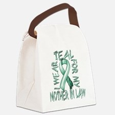 I Wear Teal for my Mother in Law Canvas Lunch Bag