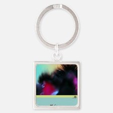 Floral Alchemy: Pet Life More Square Keychain