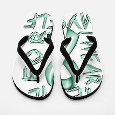 I Wear Teal for Myelf Flip Flops