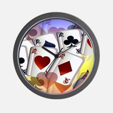 Circle Four Aces Wall Clock