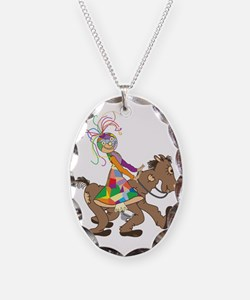 Patch Horse  Rider Necklace