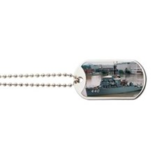 uss exploit rectangle magnet Dog Tags
