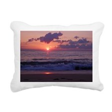 ocean sunrise Rectangular Canvas Pillow