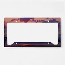 ocean sunrise License Plate Holder
