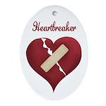 Heartbreaker Oval Ornament