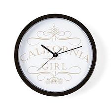 California Girl Wall Clock
