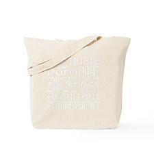 Philippians 4:8 Word Art Tote Bag