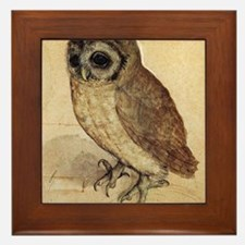 Albrecht Durer The Little Owl Framed Tile