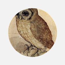 """Albrecht Durer The Little Owl 3.5"""" Button"""