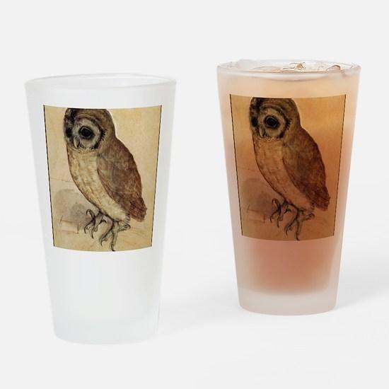 Durer Owl Drinking Glass