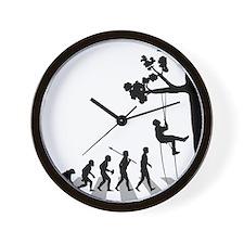 Tree-Climbing Wall Clock