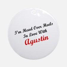 In Love with Agustin Ornament (Round)