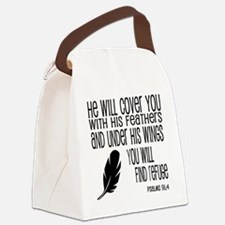 Under His Wings Canvas Lunch Bag