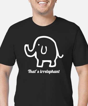 Thats Irrelephant Men's Fitted T-Shirt (dark)