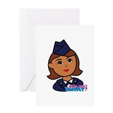 Woman Airforce Head Greeting Card