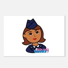 Woman Airforce Head Postcards (Package of 8)