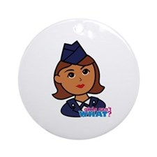 Woman Airforce Head Ornament (Round)