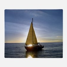 Sunset Sailboat Throw Blanket