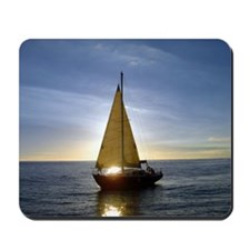 Sunset Sailboat Mousepad