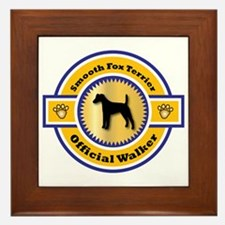 Terrier Walker Framed Tile