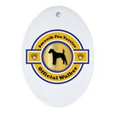 Smooth fox terrier st francis Oval Ornaments