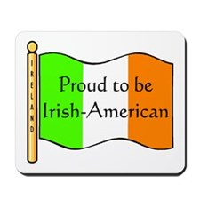 Proud Irish-American (w-flag) Mousepad
