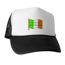 Proud Irish-American (w-flag) Trucker Hat