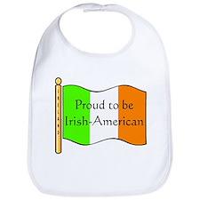 Proud Irish-American (w-flag) Bib