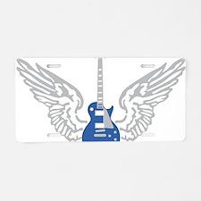 e-guitar wings Aluminum License Plate