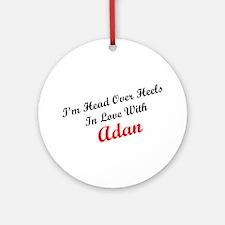 In Love with Adan Ornament (Round)