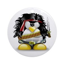 LINUX RAMBO Round Ornament