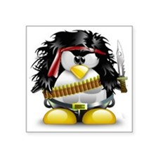 "LINUX RAMBO Square Sticker 3"" x 3"""