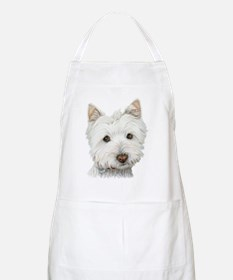 Cute West Highland White Terrier Dog Apron