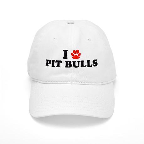 I Heart (Pawprint) Pit Bulls Cap