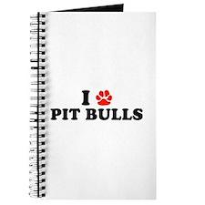 I Heart (Pawprint) Pit Bulls Journal