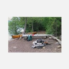 Boundary Waters Campsite Rectangle Magnet