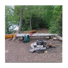Boundary Waters Campsite Tile Coaster