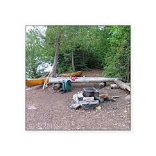 "Boundary Waters Campsite Square Sticker 3"" x 3"""