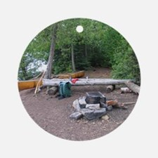 Boundary Waters Campsite Round Ornament